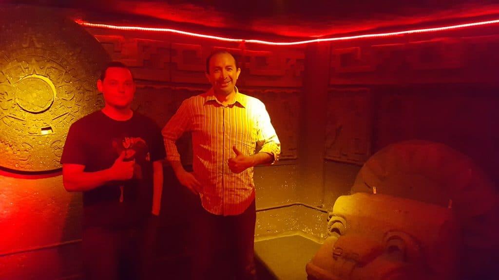men designing escape room